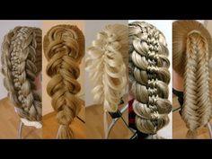 Топ 5. Удивительные косы. Видео-уроки. Hair tutorial. - YouTube