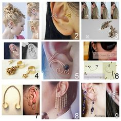 Roundup Of Nine Diy Ear Cuffs Rhinestone Cuff Wire Two Ways Easy Earrings To With Charms Using A Tutorial