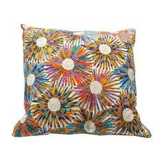 Fireworks Throw Pillow - $200 Est. Retail - $119 on Chairish.com