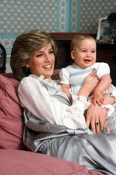 February 1983 | Princess Diana holds Prince William at Kensington palace. (We couldn't resist, just look at that face!) via @stylelist