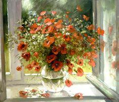 Цветочные натюрморты Александра Еня