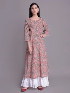 The Loom- An online Shop for Exclusive Handcrafted products comprising of Apparel, Sarees, Jewelry, Footwears & Home decor. Long Sleeve Cotton Dress, Cotton Shirt Dress, Cotton Dresses, Frock Fashion, Fashion Dresses, Simple Dresses, Nice Dresses, Awesome Dresses, Ikkat Dresses