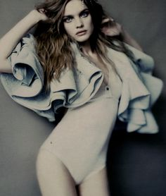 natalia vodianova photographed by paolo roversi for vogue russia, march '08.