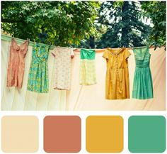 vintage color palette #lovely #colors #retro by thelma