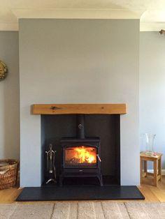 false chimney breast log burner - Google Search