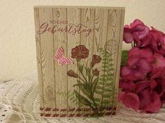 Geburtstag - Romantische Geburtstagskarte - ein Designerstück von kreativesherzerl bei DaWanda