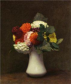 Dahlias - Henri Fantin-Latour