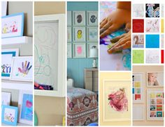 5 Pretty Ways to Display Kids Art