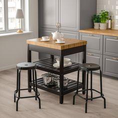 IKEA VADHOLMA kitchen island Gives you extra storage, utility and work space. New Kitchen, Kitchen Decor, Kitchen Design, Kitchen Small, Kitchen Ideas, Mini Kitchen, Kitchen Modern, Room Kitchen, Kitchen Storage