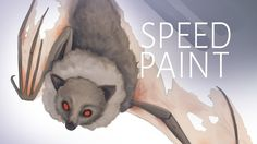 Here is the speedpaint video of the bat illustrations I recently made. You can see me draw and paint that imaginary bat. Illustration, video made by Adrienn Ecsedi.