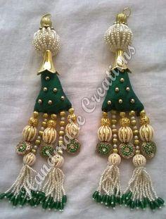 Tassel Jewelry, Fabric Jewelry, Beading Patterns, Embroidery Patterns, Saree Tassels Designs, Rakhi Design, Stylish Blouse Design, Passementerie, Handmade Decorations