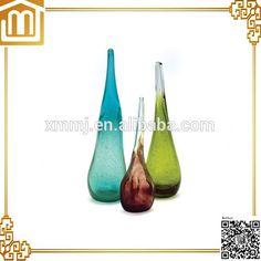 unique glass vase Large Glass Vase, Murano Glass Vase, Glass Chandelier, Creative Arts And Crafts, Xiamen, Shapes, Unique, Handmade, Decor