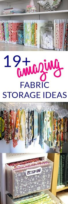 These are fantastic fabric storage ideas for your sewing room. I think these fabric organization ideas could be fun!