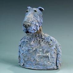 Sculptures Céramiques, Dog Sculpture, Sculptures For Sale, Pottery Sculpture, Ceramic Sculptures, Sculpture Ideas, Ceramic Animals, Ceramic Art, Clay Animals