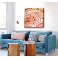 Agate Coral Canvas Print, Oliver Gal