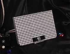 Vintage Black White Hounds Tooth Dogstooth Pattern by EverMagic, $29.99