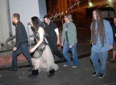 Evanescence backstage The Open Door era
