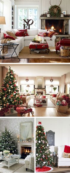 Best 10 Christmas Living Room Decorating Ideas For Your Home Cozy Christmas, Modern Christmas, Rustic Christmas, Simple Christmas, Christmas Time, Christmas Interiors, Christmas Living Rooms, Christmas Decorations, Holiday Decor