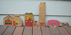 Flat Cardboard City. Need: Cardboard, Lots of Markers, Round label dots for faces in windows, and time, which I hope the parents will let their children have! Soooo awesome!