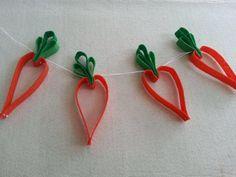 DIY Easter: DIY Easy Felt Carrot Garland