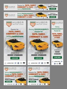 Banner Ads for Branding an automotive group! Automotive Group, Banner, Branding, Ads, Banner Stands, Brand Management, Identity Branding, Banners