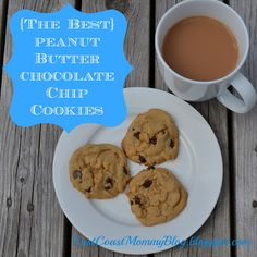 {The BEST} Peanut Butter Chocolate Chip Cookies