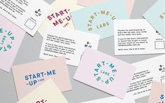 Start-Me-Up Labs start up typography type graphic design business card print modern fair stand presentation school minimal packaging designe Blog Design Inspiration, Business Card Design Inspiration, Business Design, Corporate Design, Brand Identity Design, Ux Design, Print Design, Branding Design, Identity Branding