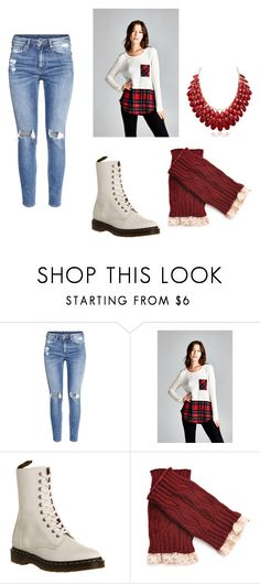 """""""Untitled #119"""" by jordanrobertsonnn ❤ liked on Polyvore featuring H&M and Dr. Martens"""