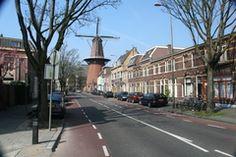 Adelaarsstraat met molen Rijn en Zon, Utrecht.