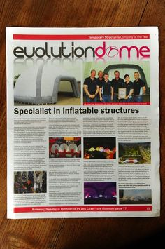 Receiving our award from Business Industry Today in the magazine. Temporary Structures, Evolution, Product Launch, Magazine, Business, Magazines, Store, Business Illustration, Warehouse
