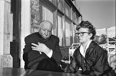 Alfred Hitchcock and Alma Reville in St. Alfred Hitchcock, People Of Interest, Tina Fey, Adam Sandler, Important People, Historical Pictures, Brigitte Bardot, Film Director, John Lennon