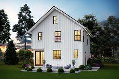Modern Farmhouse Plans, Farmhouse Design, Farmhouse Style, Victorian Farmhouse, 1500 Sq Ft House, Two Story Homes, Back Patio, Story House, Floor Plans