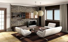 living room-brown