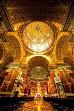 Dome Interior St. Stephen's Basilica, Budapest Hungary © Jim Zuckerman