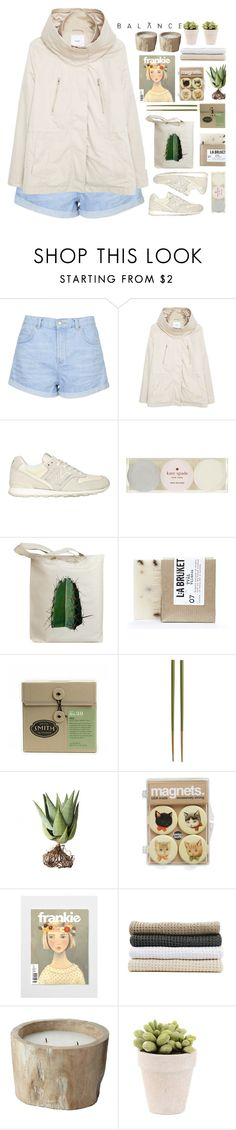 """""""Untitled #2033"""" by tacoxcat ❤ liked on Polyvore featuring Topshop, MANGO, New Balance, Kate Spade, Retrò, L:A Bruket, Crate and Barrel, Alöe, Abyss & Habidecor and Lazy Susan"""