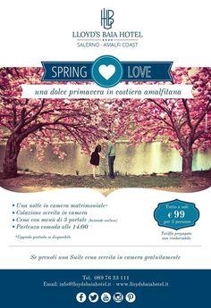 Un romantico soggiorno in #costiera #amalfitana a soli 99€ a coppia (tariffa prepagata non rimborsabile) Per info e prenotazioni chiama allo 089 7633111.