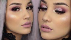 Glitter Half Cut Crease Valentine's Makeup Tutorial
