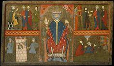 Frontal d'altar de Sant Pere de Boí. Segona meitat del segle XIII. Tremp sobre fusta, 91 x 158 cm. Barcelona: Mnac.