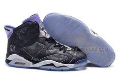 promo code a1db8 a2f93 Men Air Jordan 6 Black Slam Dunk Black Purple White