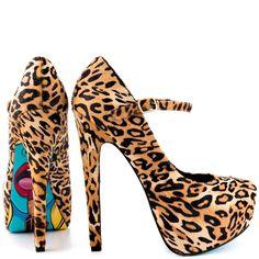 Lipstix - Leopard  Taylor Says $179.99 (a favourite gothic punk shoes repin of VIP Fashion Australia )