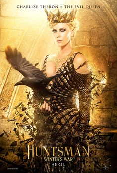 Charlize Theron as The Evil Queen in The Huntsman Winter's War movie poster