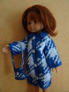 Fiche gratuite vêtements de poupées N° 188: manteau jacquard