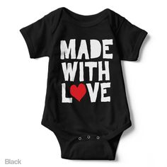 Made With Love - Short Sleeve Infant Creeper
