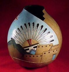 Gourd image gallery - Southwest designs 3