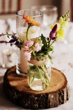 Mason jars and wild flowers <3