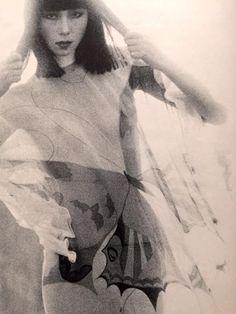 """saika566: """" 山口小夜子 Yamaguchi Sayoko """" Yamaguchi Sayoko 山口小夜子 (1949-2007) - Japan - 1976"""
