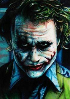 Copic markers, multiliners and gouache on x inch Versicolor card stock. My Heath Ledger sketch card! Joker in Jail Joker Images, Joker Pics, Joker Art, Joker Sketch, Joker Drawings, Batman Joker Wallpaper, Joker Wallpapers, Joker Videos, Joker Painting