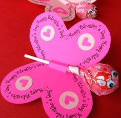 Lollipop Butterfly Valentine, Skip To My Lou