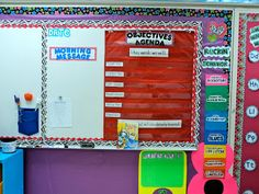 Objectives and Agenda Board, along with our Morning Message. I use the morning message from Treasures (sometimes modified) usually to create their morning journal. Students copy the morning message, respond, and then draw a picture to represent their response.