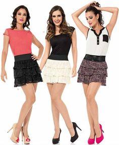 falda de moda 2014 Skater Skirt, Short Dresses, Mini Skirts, Chic, Women, Fashion, Feminine Fashion, Fashion Blouses, Dressmaking